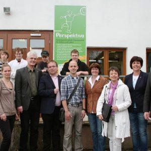 Perspektiva schafft Perspektiven: Die nordhessischen SPD-Landtagsabgeordneten der Nordhessenrunde zeigten sich begeistert vom Konzept der Perspektiva-Gesellschaft zur Eingliederung von benachteiligten Jugendlichen in den allgemeinen Arbeitsmarkt. Unser Fo