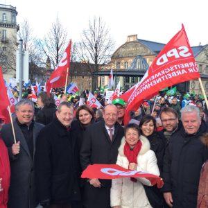 Unterstützer der Ver.di Demo